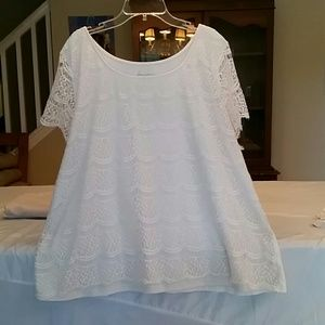 Beautiful lace front blouse, with lace sleeves